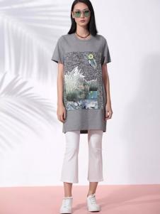THAT'S ALL女装2017春夏新品长T恤