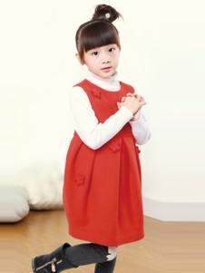 YEESHOW一休童装红色连衣裙