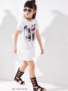 快乐丘新款女童连衣裙