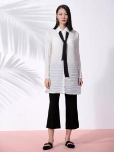 THAT'S ALL女装2017春夏新品长款白衬衫