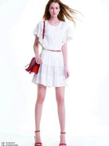伊莎贝尔·阿珈尼女装白色连衣裙