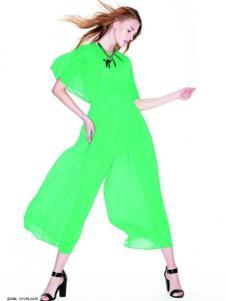 伊莎贝尔·阿珈尼女装绿色连体裤