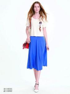 伊莎贝尔·阿珈尼女装蓝色半裙