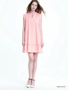 伊莎贝尔·阿珈尼女装粉色连衣裙
