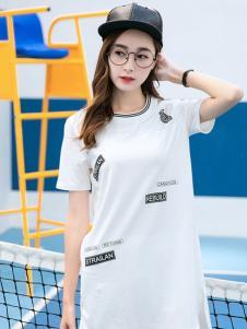 衣之纯2017春夏新品T恤裙