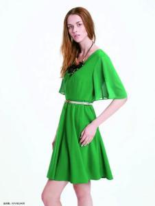 伊莎贝尔·阿珈尼女装绿色连衣裙