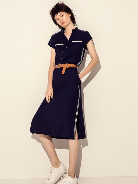 讴歌德女士长款连衣裙