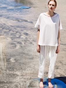 LESERBIE奕色2017春夏新品白色T恤