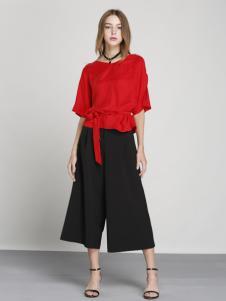 吉米赛欧春夏新品红色T恤