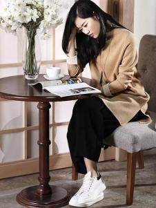 易菲女装YIFINI易菲2017春夏新品开衩长衫