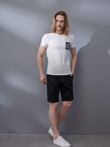 劳夫罗伦白色T恤