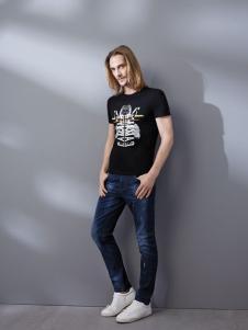劳夫罗伦春夏黑色T恤