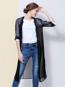 IVENI依维妮2017春夏新品黑色罩衫