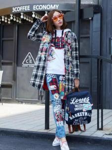E-EGO弈果女装格纹外套