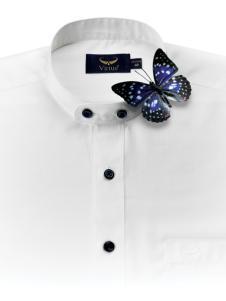 富绅春夏时尚新款白色衬衫
