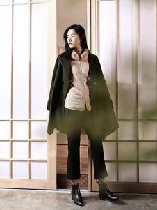 YIFINI易菲2017春夏新品绿色外套