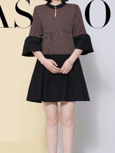 IVENI依维妮2017春夏新品条纹上衣