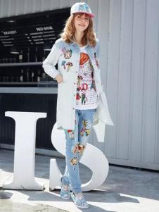 E-EGO弈果女装衬衫款外套