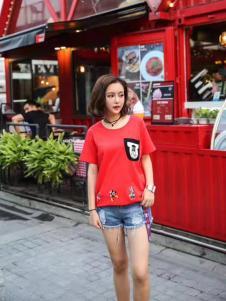 衬茉17夏季时尚新款简约T恤