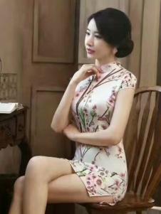 衬茉17夏季时尚新款典雅旗袍