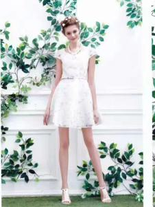 衬茉女装衬茉17夏季时尚新款蕾丝裙