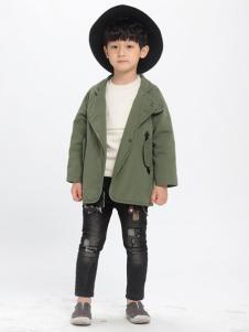 优仔优妹童装绿色外套