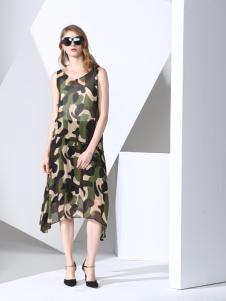 凯伦诗时尚长款连衣裙