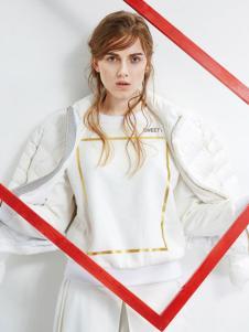 UZZU优组女装白色外套