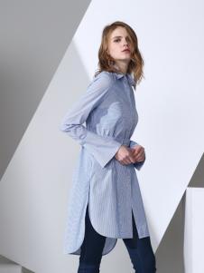 凯伦诗时尚长款衬衫
