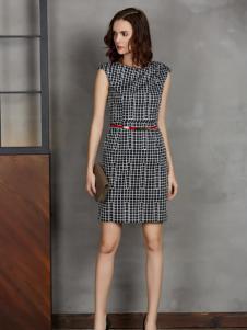 今日主播时尚收腰无袖连衣裙