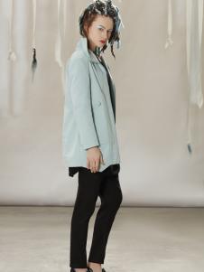 约布时尚蓝色休闲外套