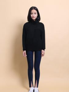 37度love黑色毛衣新款