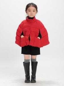 优仔优妹童装红色廓形棉衣