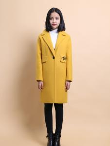 37度love黄色时尚长款外套