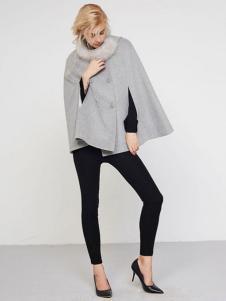 UZZU优组女装灰色廓形外套