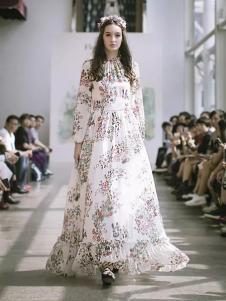 Flora Garden英伦花庭女装印花长裙