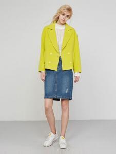UZZU优组女装柠檬黄外套