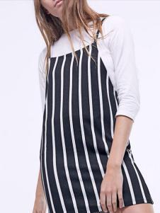 布莎卡夏季条纹连衣裙