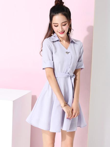 蓝缇儿17夏时尚新款唯美衬衫裙