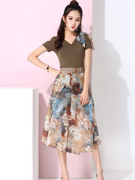 蓝缇儿17夏时尚新款印花半裙
