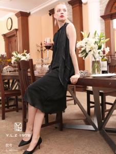 YLZ1978夏装黑色连衣裙