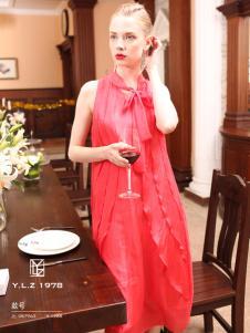 YLZ1978红色连衣裙