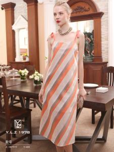 YLZ1978斜条纹女士连衣裙