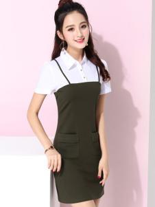 蓝缇儿17夏时尚新款甜美套装裙