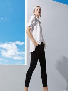 丹妮丽人白色长款衬衫新款