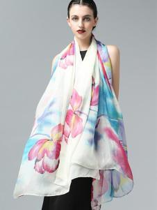 ZEAPO紫宝花语亲肤丝巾