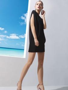 丹妮丽人时尚黑色连衣裙