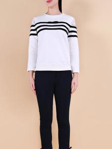 自由鸟女装2017春夏新品白色T恤