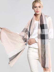ZEAPO紫宝格纹围巾