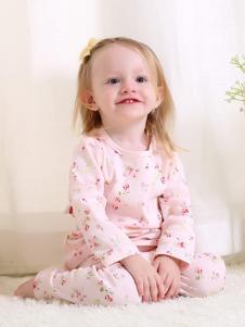 卓儿婴童装长袖小碎花内衣套装